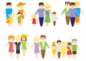 Concept plat pictogrammen instellen van familie — Stockvector