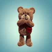Cute teddy bear toy amused — Stock Photo