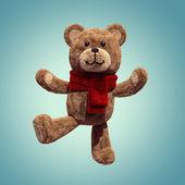 Söt nallebjörn leksak dansande — Stockfoto