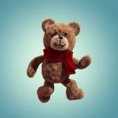 Söt nallebjörn leksak promenader — Stockfoto