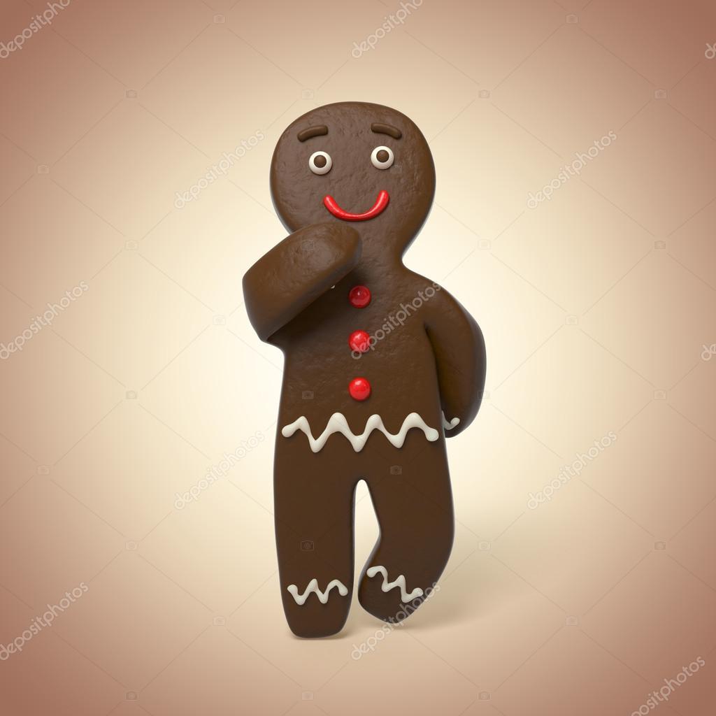 巧克力饼干人思考
