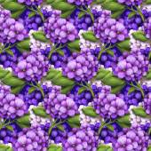 Purple hydrangea flowers background — Stock Photo
