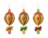 Christmas festive ornaments — Stock Photo