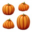 Set of assorted shapes pumpkins — Stock Photo #53507169