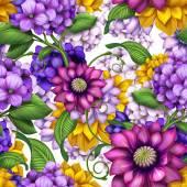 Patrón inconsútil floral moderno abstracto — Foto de Stock