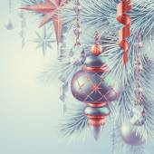 Vintage Christmas ornaments illustratio — Stockfoto