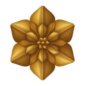 金色的装饰花装饰 — 图库照片
