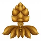 Golden floral decorative ornament — Stock Photo