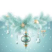 зимний праздничный фон — Стоковое фото