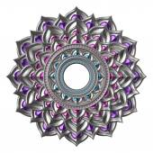 3d abstract chakra element isolated on white, esoteric symbol — Stock Photo
