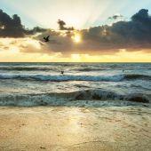 Sonnenuntergang am strand — Stockfoto