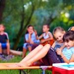 Kids having fun in summer camp — Stock Photo #51931453