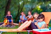 Kids having fun in summer camp — Stock Photo