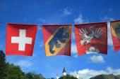 Flags of Switzerland — Stock Photo