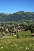 Village of Gstaad — Stock Photo