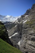 Grindelwald glacier and Fiescherhorn mountain — Stockfoto