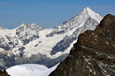 The Weisshorn and part of the Rimpfischhorn summit — Stock Photo