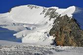 The summit ridge of the Strahlhorn — Stock Photo