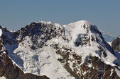 The wide summit of the Breithorn — Stock Photo