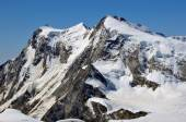 The summits of Monte Rosa — Stock Photo
