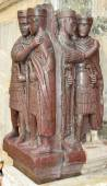 The four tetrarchs representing the 4 emperors of the roman empire — Stock Photo
