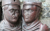 Two of the four Tetrarchs, emperors of the roman empire — Stock Photo