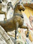 Bonze Horses of St mark's basilica — Stock Photo