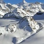 Swiss Alps Wilderness skiing — Stock Photo #59859767