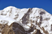 The glacier covered high alpine peak of Liskamm — Stock Photo