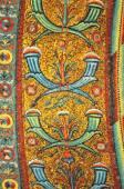 Ancient byzantine mosaics of interlinking cornucopia — Stock Photo