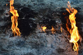 Methane gas escapes from fissures — Stock Photo