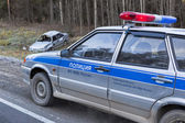 Police arrived on place of accident — Stockfoto