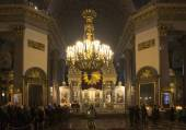 Queue to Kazan Mother of God. Kazan Cathedral in St. Petersburg, Russia — Stock Photo