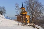 Chapel of the Assumption Mother of God in a village Markovskaya Verkhovazhsky District Vologda Region, Russia — Stock Photo