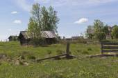 Rural backyard of the Russian North — Stock Photo
