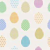 Seamless pattern easter eggs — Stock Vector