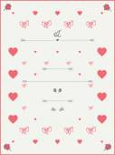 Vintage style Wedding Invitation Template — Stock Vector