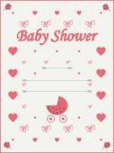 Baby shower invitation template — Stock Vector