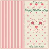 Vintage Happy Mothers's Day Typographical Background — Stock Vector