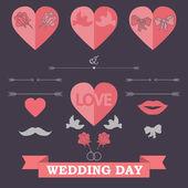 Set of wedding invitation — 图库矢量图片