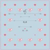 Vintage style Wedding Invitation Template — Stock Vector