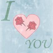 爱快乐的情人节卡片,字体类型 — 图库矢量图片