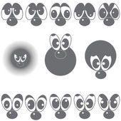 A set of eyes with a nose — Stock Vector