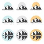Stock Vector Illustration Mountains Set — Stock Vector