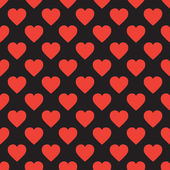 Ein Muster von Herzen — Stockvektor