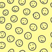Hand drawn emoticons. Seamless pattern. — Stock Vector