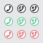Set of vector icons telephony — Stock Vector