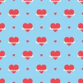 Um padrão de corações — Vetor de Stock