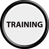 Button training — Stock Vector