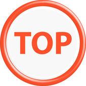 Button top — Stock Vector